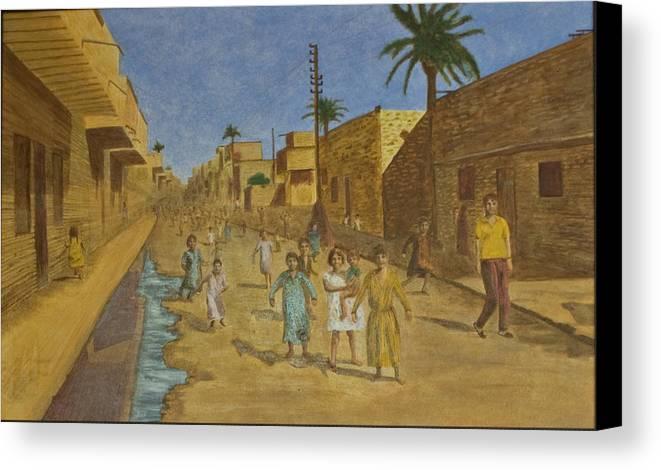 Iraq Canvas Print featuring the painting Kut Iraq by Julia Collard