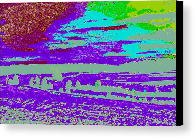 Canvas Print featuring the digital art Modified Landscape D4 by Modified Image