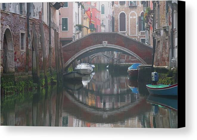 Venice Canvas Print featuring the photograph Morning Fog Venice, Italy by Bruce Beck
