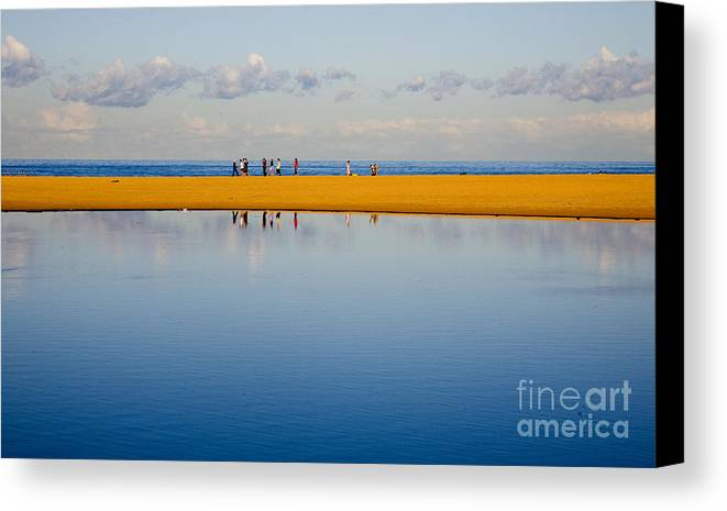 Dunes Lowry Sand Sky Reflection Sun Lifestyle Narrabeen Australia Canvas Print featuring the photograph Narrabeen Dunes by Sheila Smart Fine Art Photography