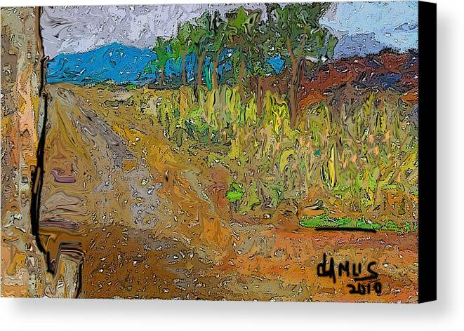 Arte Canvas Print featuring the painting Paisaje - Chile - Campo 1 by Carlos Camus