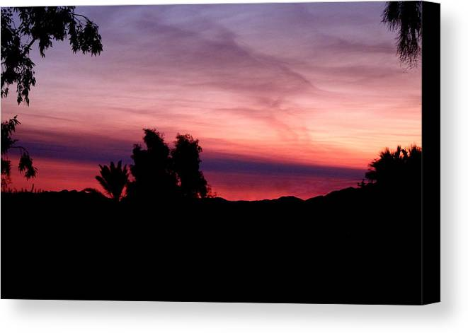 Pink Canvas Print featuring the photograph Pink Sunset by Lessandra Grimley
