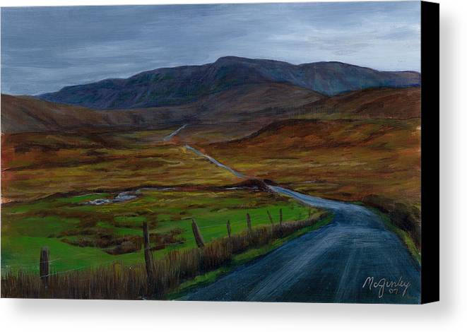 Landscape Canvas Print featuring the painting Road To Glenveagh by Laurie McGinley