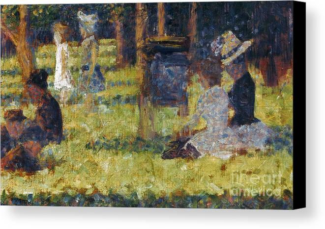 1884 Canvas Print featuring the photograph Seurat: Grande Jatte, 1884 by Granger