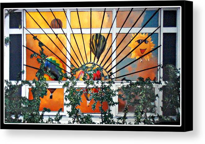 Hotair Canvas Print featuring the sculpture Sun And Hot Air by Stickney Studio