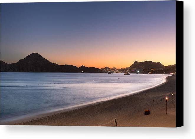 Downtown Canvas Print featuring the photograph Sunset In Cabo by David Cornelius
