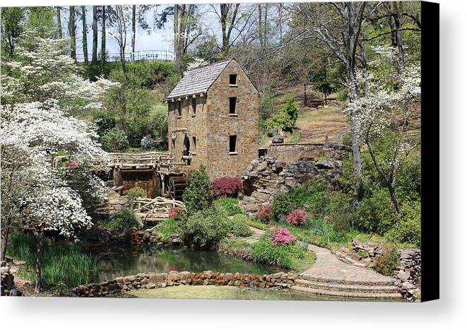 The Old Mill Canvas Print featuring the photograph The Old Mill by Kenneth Christenson