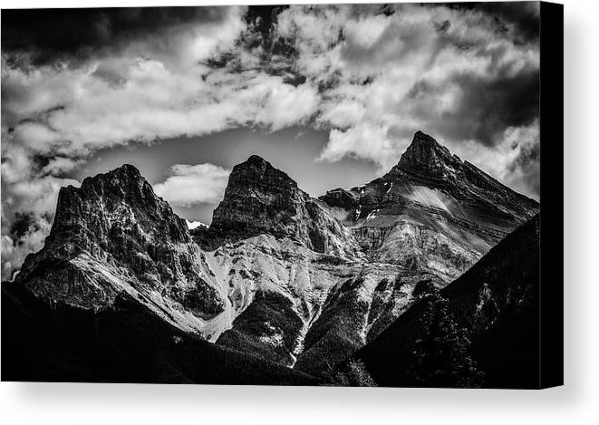 Three Sisters Canvas Print featuring the photograph The Three Sisters by Karl Anderson