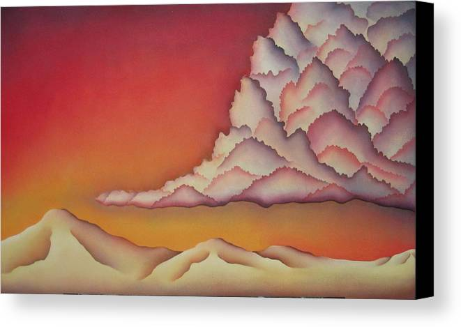 Landscape Canvas Print featuring the painting Thunderhead by Jeniffer Stapher-Thomas