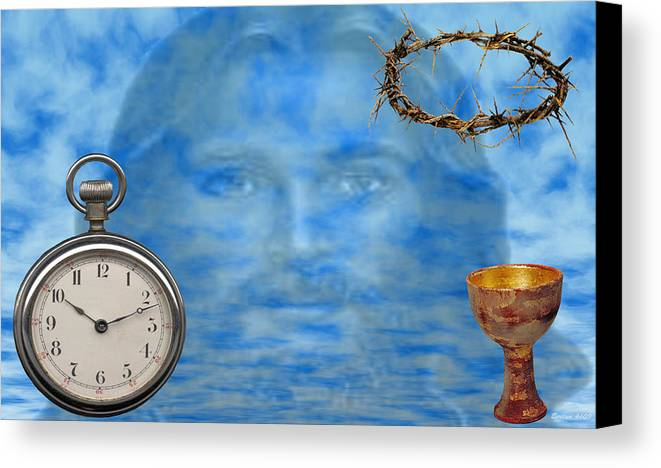 Christian Art Canvas Print featuring the digital art Time Is Ticking by Evelyn Patrick