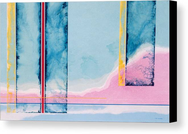 Landscape Canvas Print featuring the painting Transitory Veils by Lyle Crump