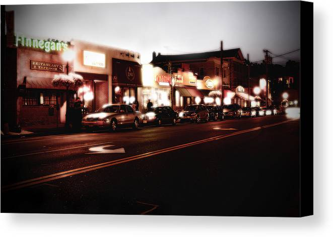Long Island Canvas Print featuring the photograph Wall Street by Michael Simeone