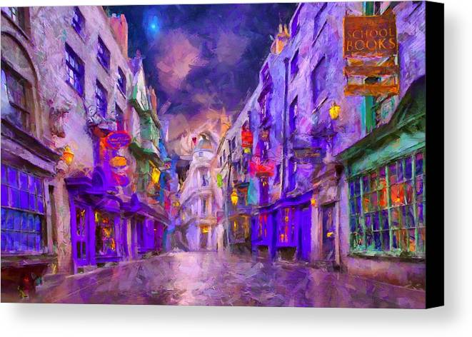 Diagon Alley Poster Art Print