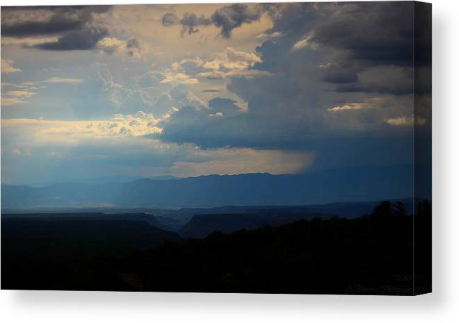 Arizona Canvas Print featuring the photograph Monsoon Canyons by Aaron Burrows