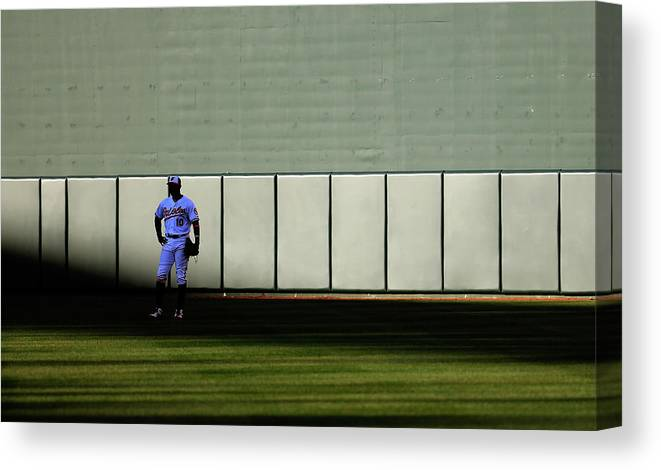 Ninth Inning Canvas Print featuring the photograph Boston Red Sox V Baltimore Orioles 10 by Rob Carr
