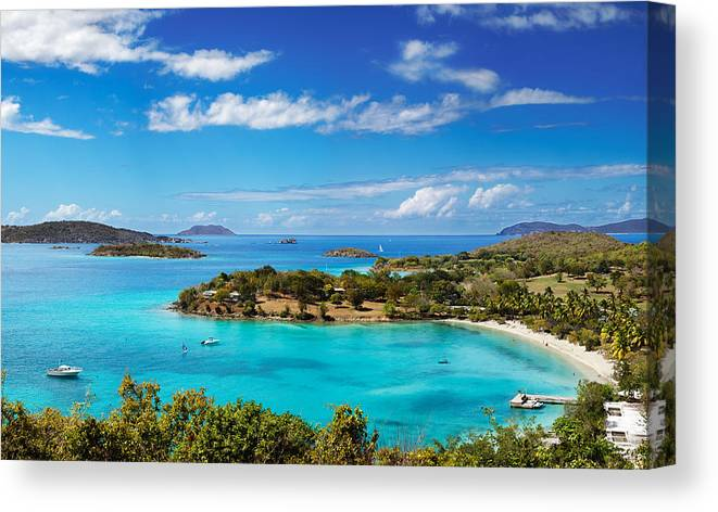 Beach Canvas Print featuring the photograph Caneel Bay by Jo Ann Snover
