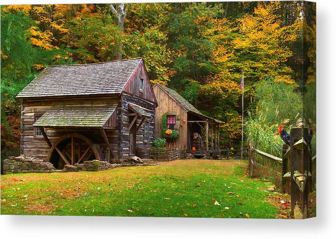 Farm Canvas Print featuring the photograph Fall Down On The Farm by William Jobes