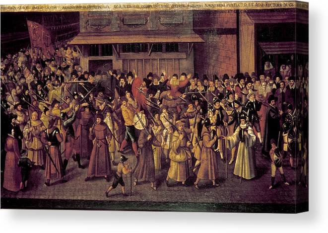 1593 Canvas Print featuring the painting France Catholic League by Granger