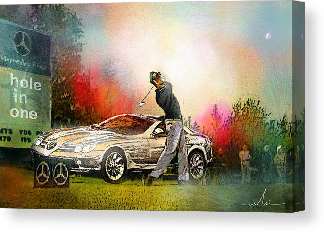 Golf Canvas Print featuring the painting Golf In Gut Laerchehof Germany 03 by Miki De Goodaboom