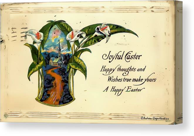Canvas Print featuring the photograph Joyful Easter by Audreen Gieger