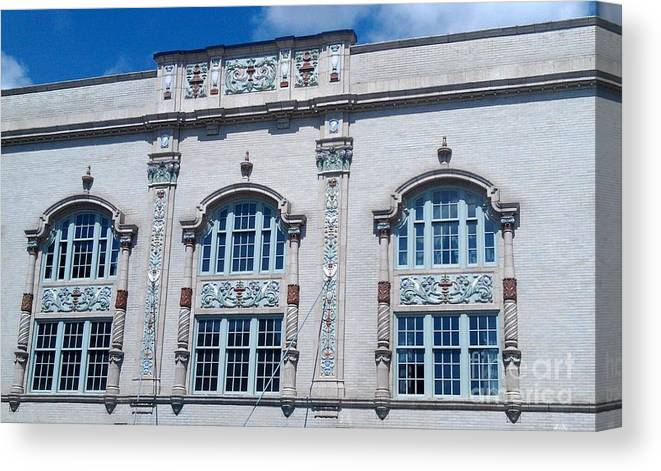 South Bend Canvas Print featuring the photograph Morris Performing Arts -- South Bend Indiana by Anna Lisa Yoder