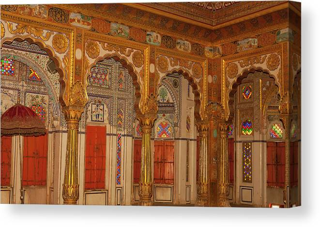 10th Century Canvas Print featuring the photograph Palace Of Flowers by Tom Norring