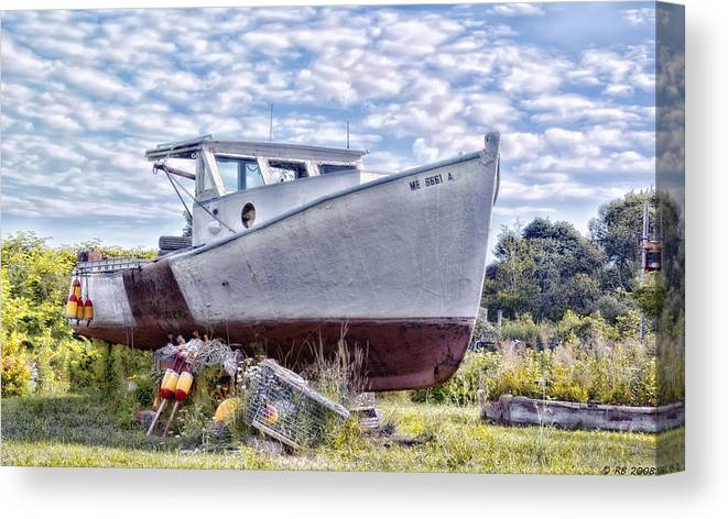 Boat Canvas Print featuring the photograph Retired by Richard Bean