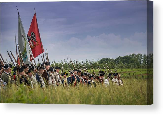 Colonials Canvas Print featuring the photograph Tall Grass by Bruce Neumann