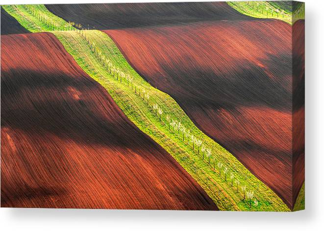 Moravia Canvas Print featuring the photograph Waterslide by Jan ?m?d, Qep