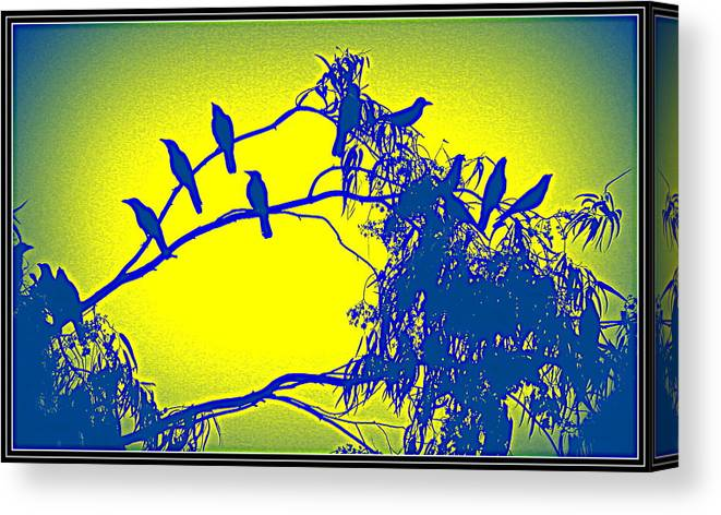 Crows Crows And Crows Canvas Print featuring the photograph Crows Crows And Crows by Anand Swaroop Manchiraju