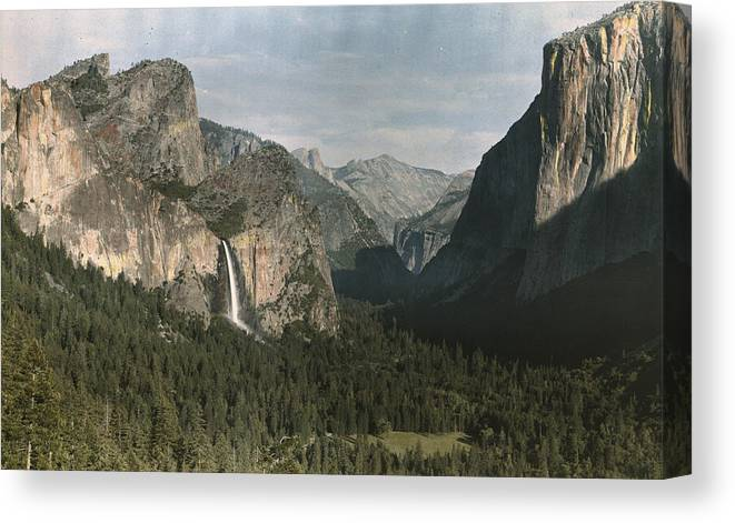 Day Canvas Print featuring the photograph View Of The Mountain El Capitan by Charles Martin