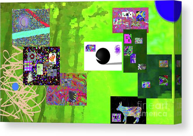 Canvas Print featuring the digital art 7-30-2015fabcde by Walter Paul Bebirian