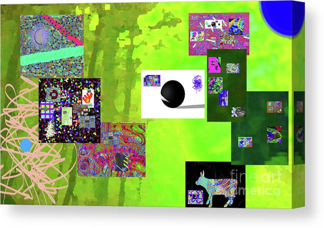 Walter Paul Bebirian Canvas Print featuring the digital art 7-30-2015fabcdef by Walter Paul Bebirian