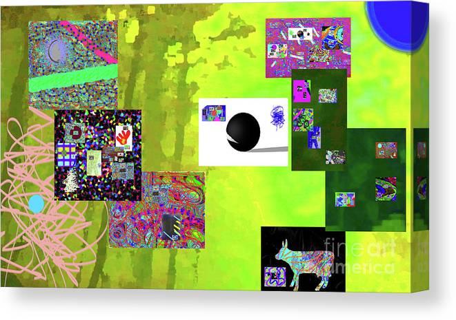 Walter Paul Bebirian Canvas Print featuring the digital art 7-30-2015fabcdefg by Walter Paul Bebirian
