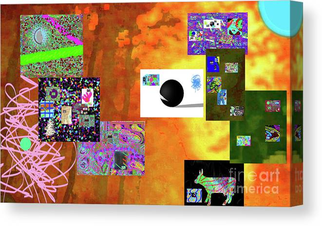 Walter Paul Bebirian Canvas Print featuring the digital art 7-30-2015fabcdefghijk by Walter Paul Bebirian