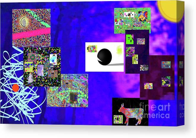 Walter Paul Bebirian Canvas Print featuring the digital art 7-30-2015fabcdefghijklmnopqrtuvwxyz by Walter Paul Bebirian