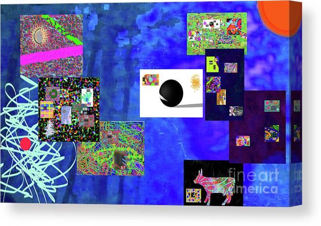 Walter Paul Bebirian Canvas Print featuring the digital art 7-30-2015fabcdefghijklmnopqrtuvwxyzabc by Walter Paul Bebirian