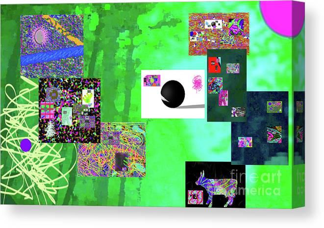 Walter Paul Bebirian Canvas Print featuring the digital art 7-30-2015fabcdefghijklmnopqrtuvwxyzabcdefghijk by Walter Paul Bebirian