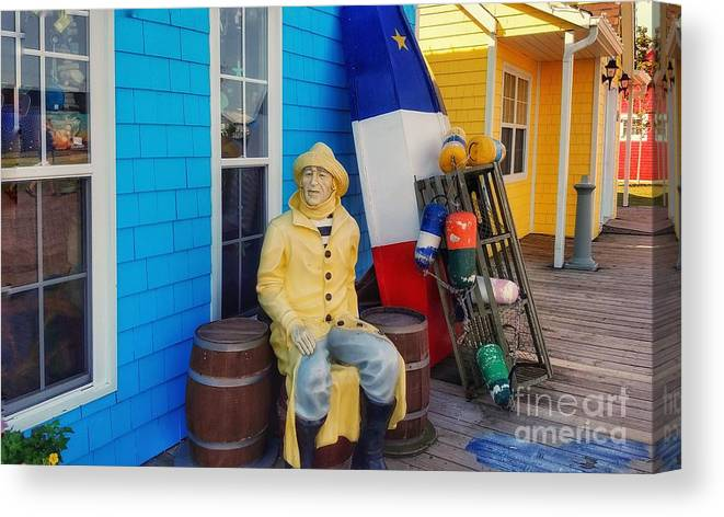 Acadia Canvas Print featuring the photograph Acadian Fisherman, Prince Edward Island, Canada by Mary Capriole