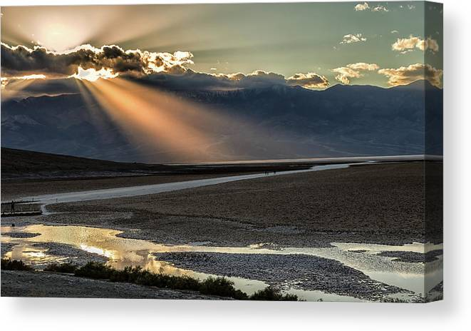 Canvas Print featuring the photograph Bad Water Basin Death Valley National Park by Michael Rogers