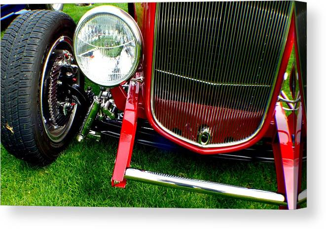Hot Rod Canvas Print featuring the photograph Close Up by Barbara Angle