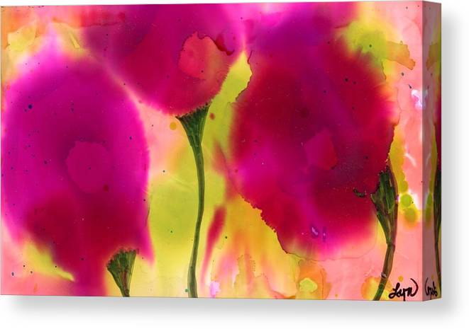 Flowers Canvas Print featuring the painting Pink Dreams by Lyn Hayes