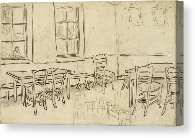 Interior With Tables And Chairs And A Sketch Of The Bedroom 1890