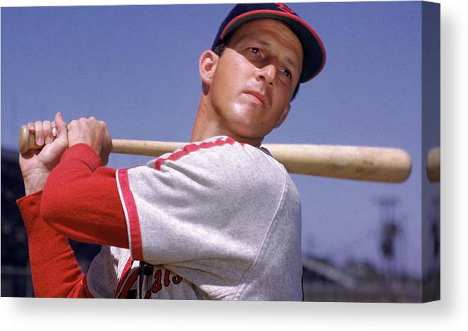 Stan Musial Canvas Print featuring the mixed media Stan Musial by Thomas Pollart