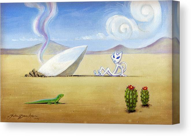 Deecken Canvas Print featuring the painting The Truth About Roswell by John Deecken