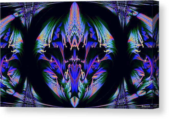 Digital Art Canvas Print featuring the photograph Tribal Fractal by Evelyn Patrick