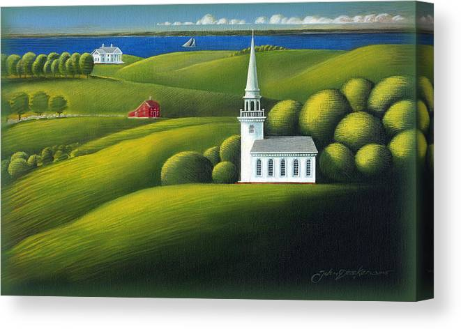 Deecken Canvas Print featuring the painting View Of The Sound by John Deecken