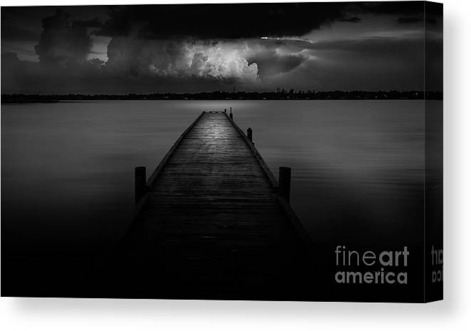 Pier Canvas Print featuring the photograph Peaceful Retreat by Marvin Spates