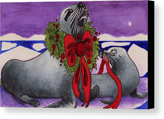 Christmas Canvas Print featuring the painting Wear Your Best by Joy Bradley