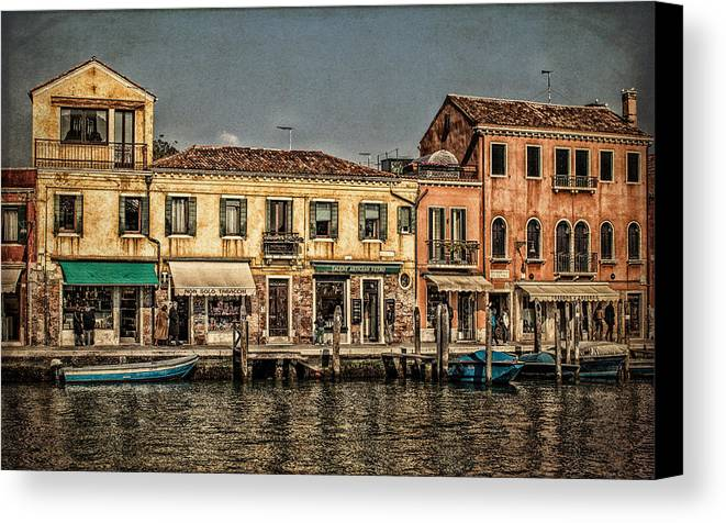 Murano Canvas Print featuring the photograph Murano by Dobromir Dobrinov
